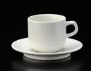 ベーシック粉引スタックアメリカン碗皿(碗と受け皿セット)