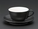 マーレカプチーノC/S ブラック(碗と受け皿セット)