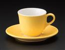 マーレコーヒーC/S イエロー(碗と受け皿セット)