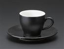 オリエント(黒)コーヒー碗皿(碗と受け皿セット)