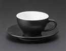 オリエント(黒)兼用碗皿(碗と受け皿セット)