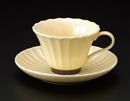 かすみイエローコーヒーカップC/S(碗と受け皿セット)