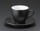 オリエント(黒)アメリカン碗皿(碗と受け皿セット)