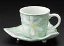 花コーヒー碗皿グリン(碗と受け皿セット)
