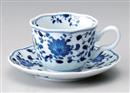菊唐草コーヒー碗皿(碗と受け皿セット)