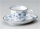 線唐草コーヒー碗皿(碗と受け皿セット)