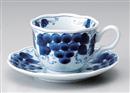 ぶどうコーヒー碗皿(碗と受け皿セット)