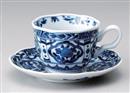 間取桃花コーヒー碗皿(碗と受け皿セット)