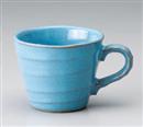 ブルー波口マグカップ