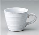 ホワイト波口マグカップ
