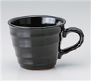 ブラック波口マグカップ