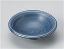 藍彩千筋丸中鉢