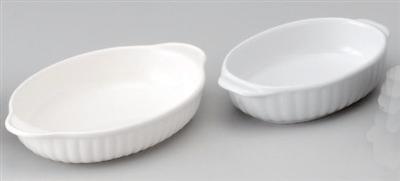 ホワイト両手楕円グラタン