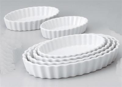白楕円10吋パイ皿
