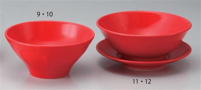 赤釉21.5cm削り高台丼