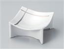 一珍白磁プラチナ線高台四方小鉢