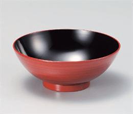 [A]茶漬飯椀赤茶刷毛目
