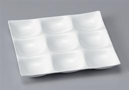 [A]ナインホールプレート陶磁器調白