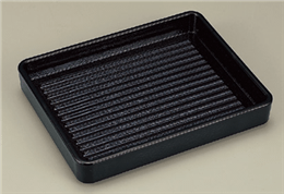 [TA]ABS長角肉皿黒(塗無)21cm