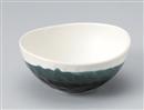 黒釉掛楕円中鉢