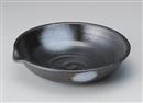 白吹黒水晶9.5片口大鉢