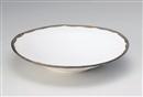 金釉流し白大平鉢