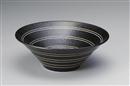 黒釉駒筋8.0盛鉢