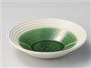 織部釉手彫ラインパスタ皿