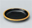 [A]樽型ヤクミ皿 白木内黒