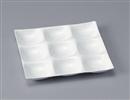 [A]ナインホールプレート 陶磁器調白