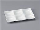 [A]シックスホールプレート 陶磁器調白