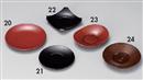 [M]4.5寸菓子皿 朱