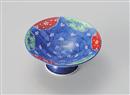 濃錦紅梅高台小鉢