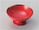 赤釉渕金高台小鉢