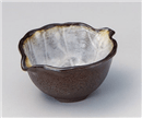 備前志野 葉型3.5小鉢