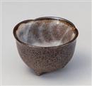 備前志野 花型三ツ足3.3小鉢