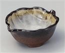 備前志野 葉型4.0小鉢