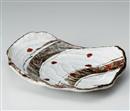 錆絵辰砂渦彫11.0盛込皿