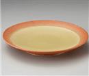 黄釉吹櫛目8.0皿
