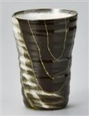 年輪 黒ビアカップ