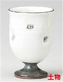 粉引印花ワインカップ