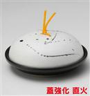 黒飛ばしラスター陶板鍋(大)
