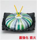 十草模様石目正角陶板鍋(大)