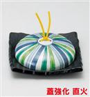 十草模様石目正角陶板鍋(小)