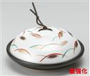 黒釉銀彩武蔵野陶板
