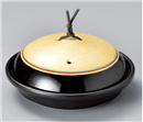 赤帯金彩駒筋陶板