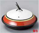 赤帯銀彩駒筋陶板