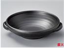 黒8号耐熱鉢(手付)