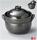 利行黒釉ごはん鍋(2合炊)