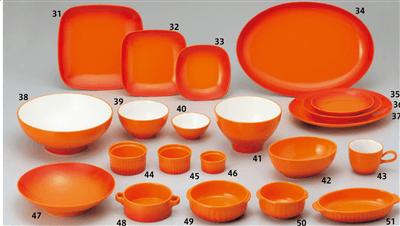 COLORE(コローレ)(橙) オレンジ スクエアプレート(L)
